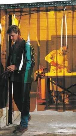 Welding Strip Curtain 8 ft Ranking TOP6 Dedication Amber x10 PVC