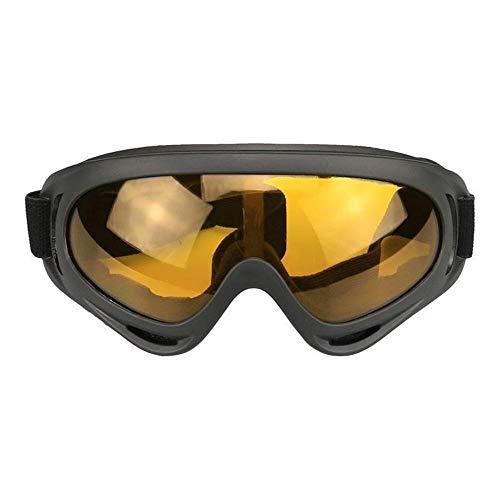 JFSZZ Lentes Gafas de Deporte al Aire Libre del esquí de la Motocicleta de protección Protección Montar los vidrios Anti-UV (Color : Red)