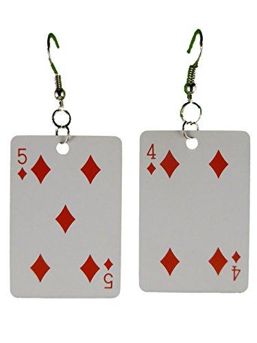Ohrringe Ohrhänger Hänger Karte Kartenspiel Skat Karo leicht am Ohr 8298