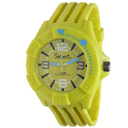 Select Tc-30-08 Reloj Analogico Unisex Caja De Resina Esfera Color Amarillo