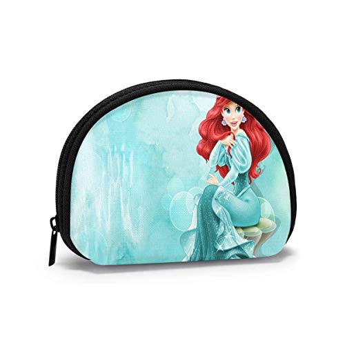 Coin Purse Change Wallet, Ariel Princ Coin Pouch Portable Shell Storage Bag for Women Girls