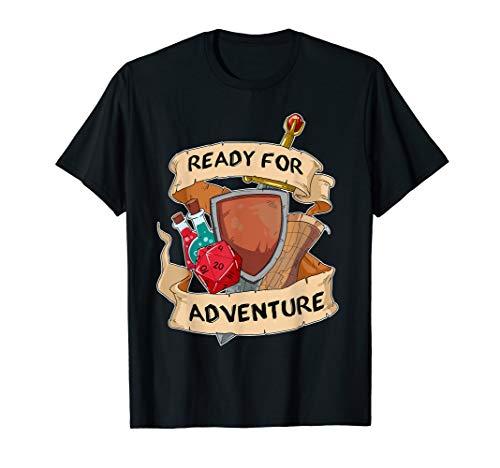 Abenteuer W20 Würfel T-Shirt Fantasy Rollenspiel Brettspiel