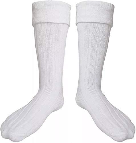 SCOTTISH WHITE KILT HOSE SOCKS FOR MEN SIZE M L XL 2XL (XL)