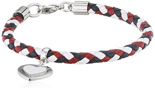 Tommy Hilfiger Damen-Armband Edelstahl Leder 19.5 cm - 2700901