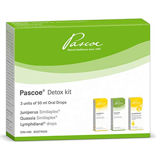 Pascoe – Pascoe Detox Kit – 3 x 50 mL Oral Drops – Homeopathic kit for the relief of sinus congestion, indigestion…