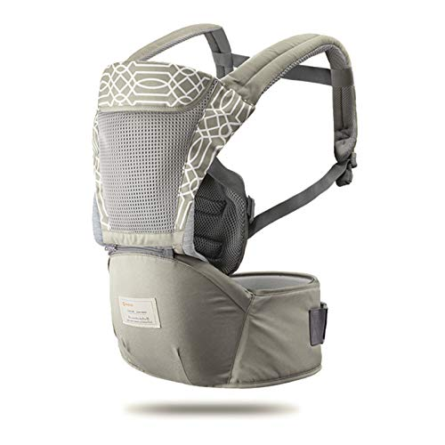 3-in-1 Ergonomic Baby Carrier Infant Kid Baby Hipseat Sling Front Facing Kangaroo Baby Wrap Carrier for Baby Travel 0-36 Months (Gray)