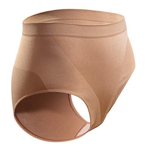 Sesto Senso Damen Miederslip Nahtlos 1/3 Pack Figurformend Bauch Weg Effekt Shapewear (L/XL, Hautfarben)