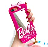 Easierforyou Barbie Cute Girl Mirror Make up with Chain Charm Case Compatible for iPhone 11 pro max, Cartoon 3D Cute Soft Silicone Rubber Protective Gel Back Cover