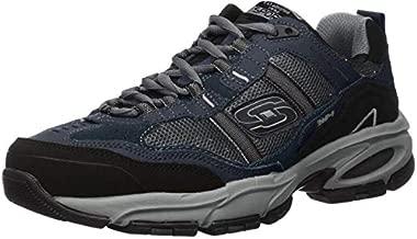 Skechers Sport Men's Vigor 2.0 Trait Memory Foam Sneaker, Navy/Grey, 9.5 M US