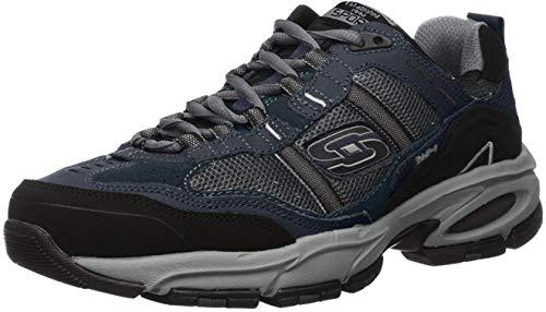 Skechers Sport Men's Vigor 2.0 Trait Memory Foam Sneaker, Navy/Grey, 12 M US