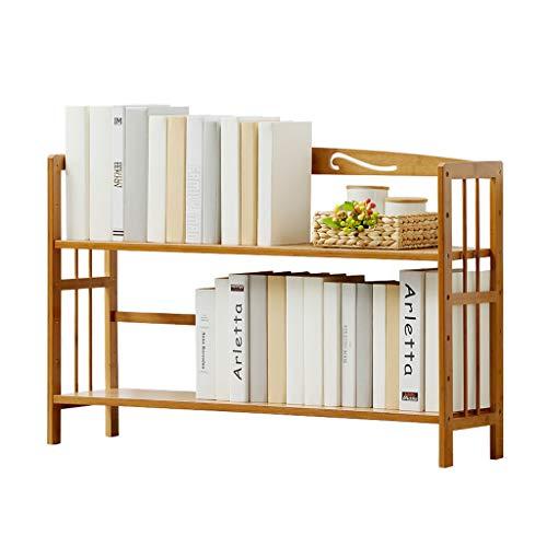 Bibliothèques Étagère simple étagères multicouche en bambou sur la table étagère pour enfants bibliothèque étudiante (Color : Brown, Size : 90x25x60cm)