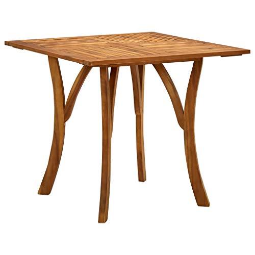 vidaXL Bois d'Acacia Massif Table de Jardin Table de Salle à Manger Table de Terrasse Meuble de Patio Bistro Extérieur 85x85x75 cm