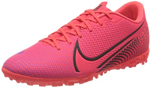 Nike Vapor 13 Academy TF, Botas de fútbol Hombre, Rotulador láser Crimson Black Laser Crim 606, 47 EU