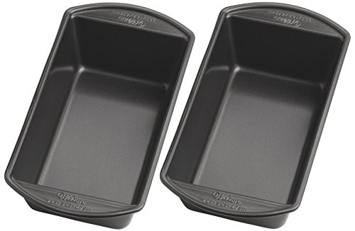 Wilton 2105-6806 Perfect Results Large Nonstick Loaf Pan, 9.25 by 5.25-Inch, Pack of 2 Pans