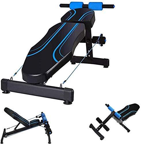 LFMXLD Indoor Fitness Rückenlehne, Multifunktions-Übungshantelbank, Bauch Crunches Übung Bauch Fitness Stuhl.