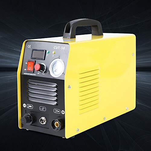 CUT50 IGBT Plasma Schneider - 50 Amp Plasmaschneider mit Elektrischem Display,3 In 1 Luftplasmaschneider,Schneidet bis 12 mm Plasma CUT Inverter Schweißgerät für Edelstahl,Aluminium