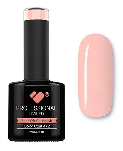472 VB Ligne Rose clair brillant Couleur Super Vernis UV/Led Soak Off Vernis à ongles gel