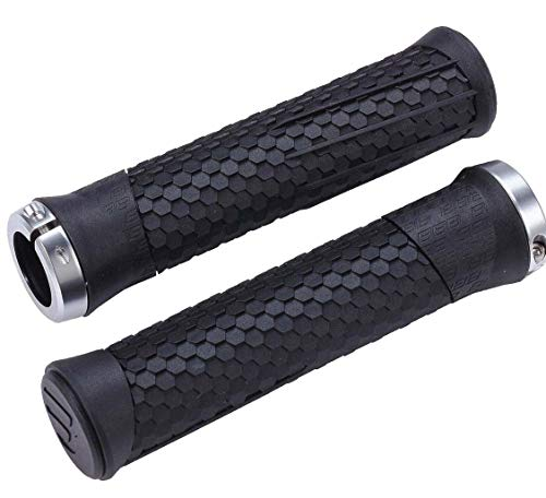 Bbb Cycling Unisex's Python BHG-95 Bicycle Handlebar Grips E-Mountain Bikes Anti-Slip One Pair Black, One size