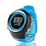 ZGZYL GPS Sports Watch Men and Women Outdoor Ocio Digital Reloj Digital con Contador De Calorie, Recordatorio De Pace, Cronómetro, Reloj Podómetro Muñeca,A