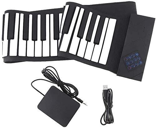 Digital portátil teclado de piano, 88 teclas de silicona portátil de piano estándar Instrumento rueda for arriba el piano electrónico del teclado del Medio Ambiente wxt