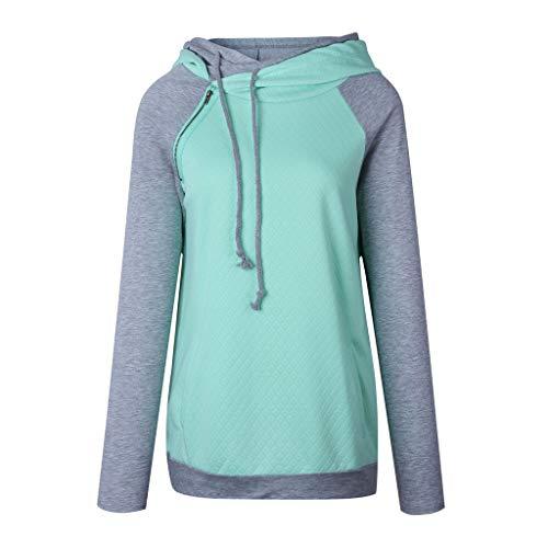 Floweworld Damen Hoodies Winter Casual Sweatshirt Mode Reißverschluss Hals Langarm Kordelzug...
