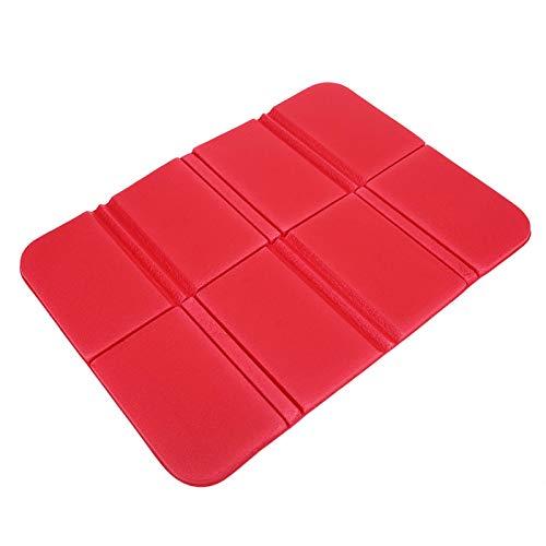 Nuobi Cojín de Pincicn, Impermeable Plegable Ligero de la Estera de la Espuma del cojín del Asiento Plegable para Acampar para la Comida campestre(Red)