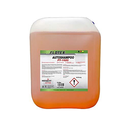 Flotex® 5L Autoshampoo Konzentrat - Exklusiver Reiniger für Auto, Motorrad, LKW & Wohnwagen - Schonendes Waschen von außen - Nanotechnologie & frischer Orangen Duft