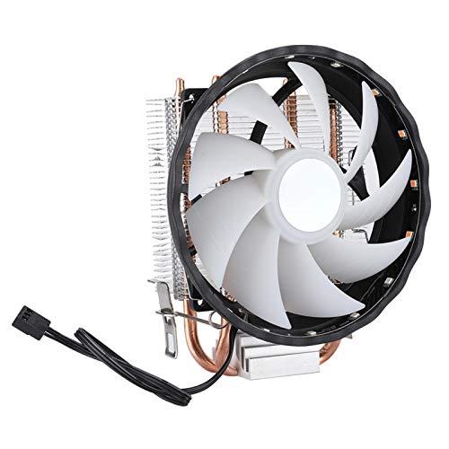 HAOX Ventilador de la CPU de 12V DC, Ventilador de enfriamiento de la CPU de 2 Tubos de 12cm, para computadora del Sistema de enfriamiento