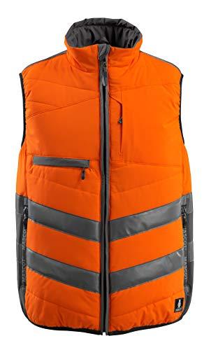 Mascot Grimsby Warnschutz Winterweste 15565-249 - Safe Supreme Herren XL Hi-Vis Orange/Dunkelanthrazit
