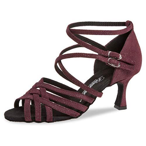 Diamant 108-087-567 - Zapatos de baile para mujer (gamuza bordeaux brillantina, 5,7...