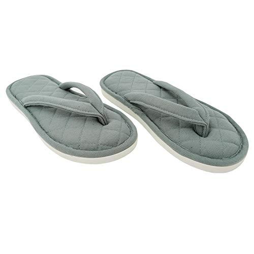 Ofoot Zapatillas Mujer casa con chanclas de algodón y spa, Pantuflas de...