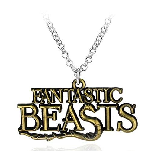 Animales fantásticos y dónde encontrarlos Aleación Scamander Collar Collares Regalo para los fanáticos de la película Jewelryr-bronze_plated