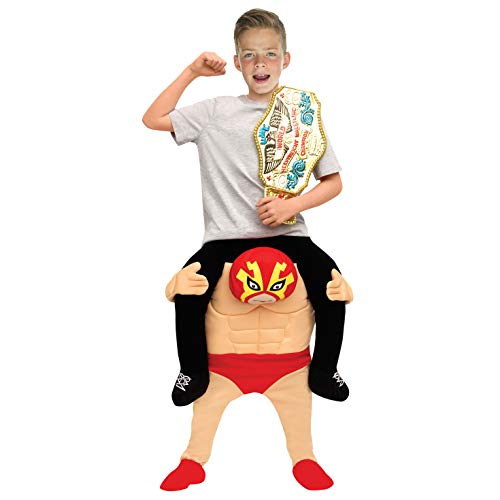 Morphsuits Kids Piggyback Mexican Wrestler Costume Ride On Child Illusion Carry Me Dress Up