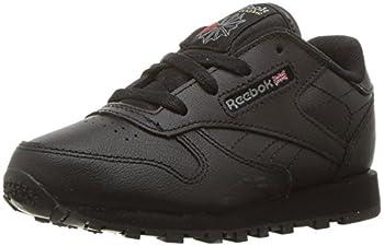 Reebok Baby Boys Classic Leather Sneaker Black-USA 9.5 Infant