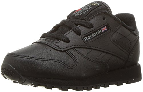 Reebok Baby Boys Classic Leather Sneaker, Black USA, 9.5 Infant