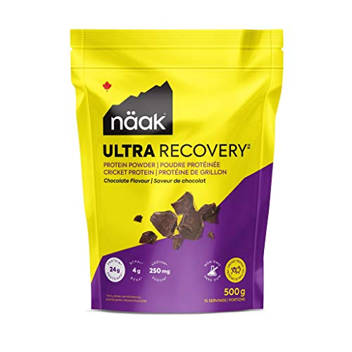 Näak Protein Powder Chocolate (15 Servings, 500g), Cricket Protein Powder, BCAAs, Amino Acid, Non Dairy, Keto-Friendly, Gluten Free, GMO Free