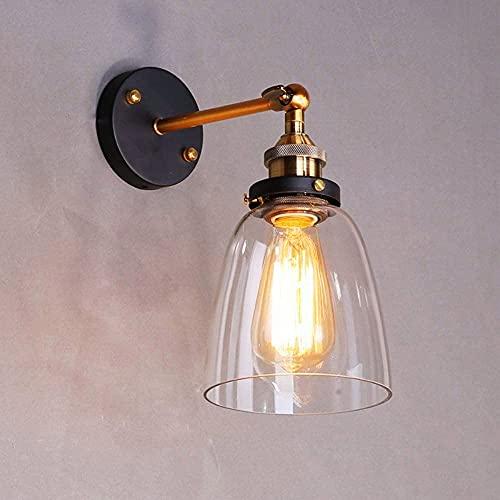 Lightsjoy Lámpara de Pared Vintage Lámpara Cristal Industrial Luz de Metal Apliques...