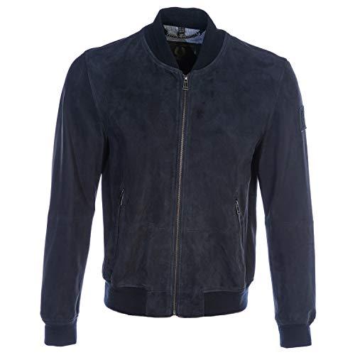 Belstaff Harbour Jacket in Navy Suede