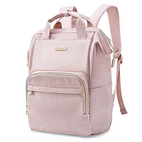 Laptop Backpack for Women, BAGSMART Travel Backpacks 15.6 Inch Notebook Doctor Back pack (pink)