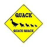 Fhdang Decor Quack Quack Quack Quack Quack Ente und Enten Animal Farm Ranch Crossing Caution...