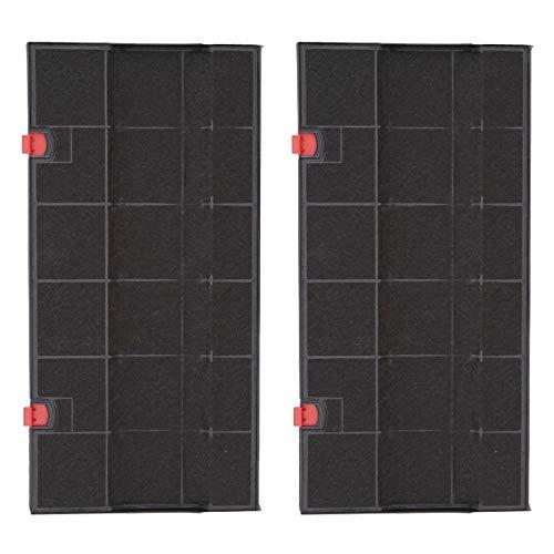 SPARES2GO anti-geur koolstoffilter voor AEG afzuigkap (435 x 217 mm, 2 stuks)