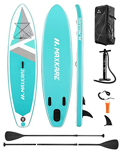 """SUDOO 10FT 3M Inflatable Stand Up Paddle Board SUP Board 6/"""" Thick Surfboard Lightweight/Non-Slip EVA Deck SUP Package Complete Kit for All Skill Beginners Adults Fishing Yoga Surfing 300x76x15cm"""