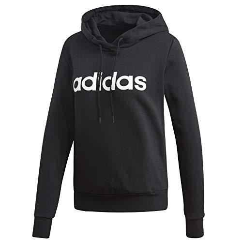 adidas W E Lin Ohhd FL, Felpa Donna, Medium Grey Heather/Pink Tint, XS