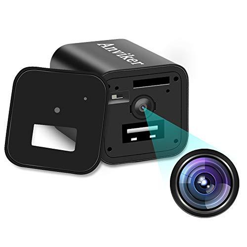 Cámaras Ocultas del Cargador de la Pared del USB de 1080P HD, Enchufe del Adaptador del Cargador de la cámara espía de Nanny con la función de detección de Movimiento (No Incluye Tarjeta SD)