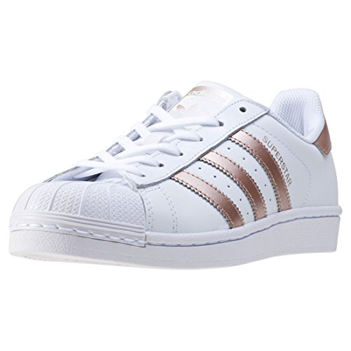 adidas Women's Superstar W Low-Top Sneakers, White (Ftwwht/Supcol/ftwwht), 3.5 UK