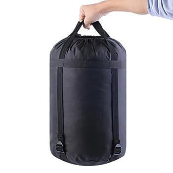 Housse de compression en nylon imperméable pour ranger vos affaires de camping, VBPAZKSFAZA620, Noir , petit