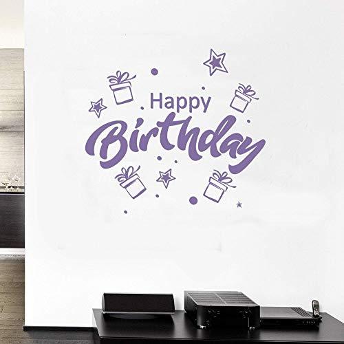 JXMN Regalos de Feliz cumpleaños y Estrellas calcomanías de Pegatinas de Pared para la decoración del salón de cumpleaños y la Familia 102x93 cm