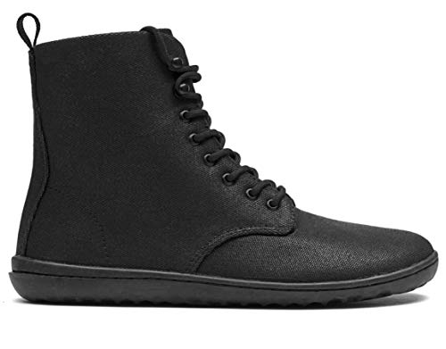vivobarefoot Gobi Hi 2.0, Womens Lace Up Winter Boot with Barefoot Sole & Warm Lining Black