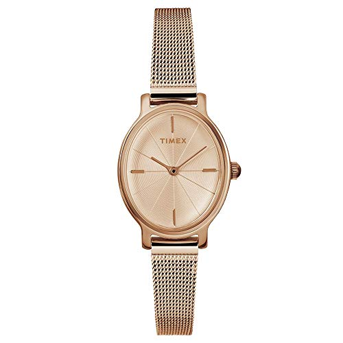 Timex Womens Milano Oval Watch - Rose Gold