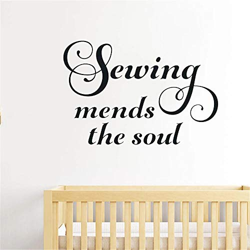 Sewing Change Soul Wall Sticker Sewing Needle Thread Vinyl Sewing Art Design Japanese Anime Martial Arts Warrior